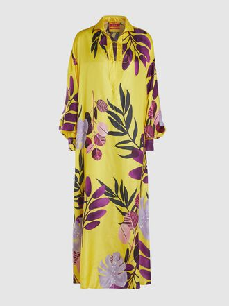 F.R.S For Restless Sleepers - Anfitrite Floral Silk Kaftan
