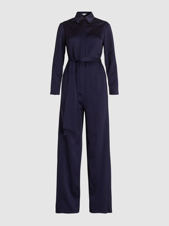 LAYEUR - Watson Long-Sleeve Viscose-Blend Jumpsuit