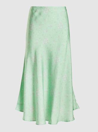 Maggie Marilyn - Where I Want to Be Printed Silk Midi Skirt