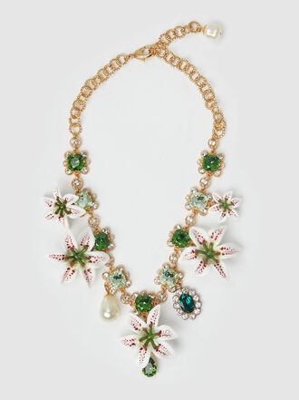 Dolce & Gabbana - Acetate and Crystal-Embellished Gold-Tone Necklace