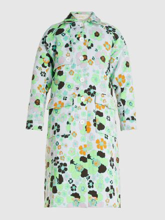 CAP - Capucine Floral Collared Synthetic Coat