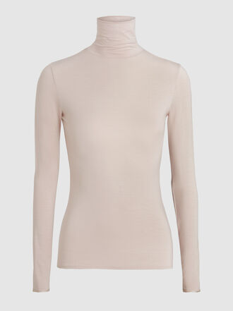 LAYEUR - Soft Jersey Long Sleeve Turtleneck Top