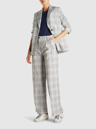 Baum und Pferdgarten - Brianna Checked Cotton-Blend Blazer