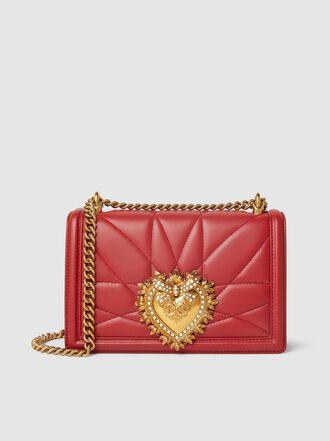 Dolce & Gabbana - Devotion Crystal-Embellished Leather Shoulder Bag
