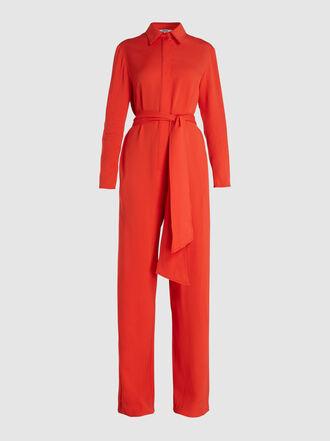 LAYEUR - Watson Long-Sleeve Viscose-Blend Jumpsuit