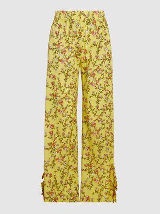 Baum und Pferdgarten - Nissa Printed Stretch-Silk Trousers