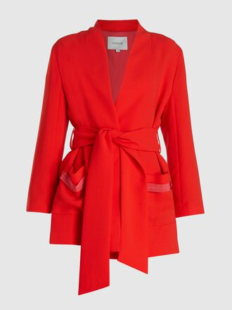 LAYEUR - Dench Kimono Belted Crepe Jacket