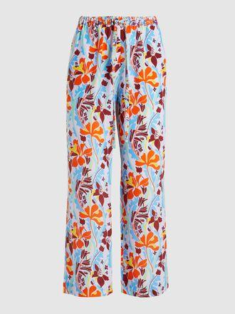 Stine Goya - Truman Floral-Print Wide-Leg Silk Trousers