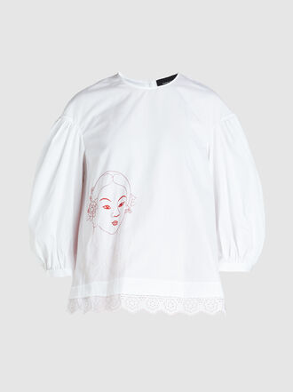 Simone Rocha - Embroidered Poplin Blouse