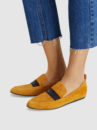 LANVIN - Logo Band Suede Loafers