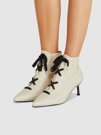 MERCEDES CASTILLO - Payton Lace-Up Leather Ankle Boots