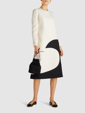 Valentino - Moon Print Wool-Blend Crepe Midi Dress