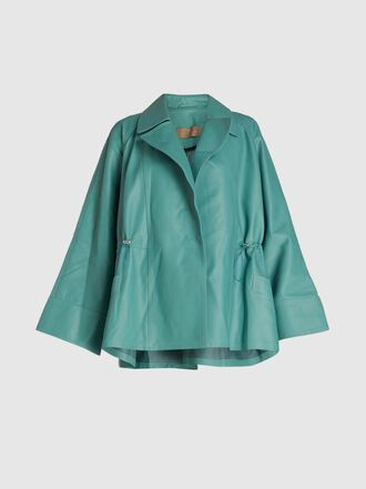 Ecaille - Cropped Leather Trench Coat