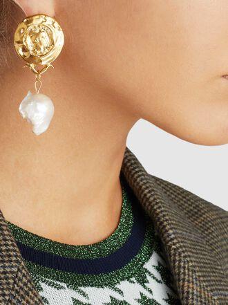 ALIGHIERI - Passione di Napoli Pearl Drop Gold-Plated Earrings
