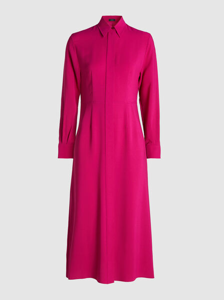 Joseph - Turner Pointed-Collar Silk Shirt Dress