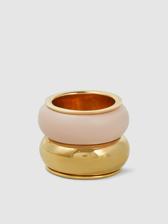 UNCOMMON MATTERS - Breve Gold-Tone Acrylic Ring