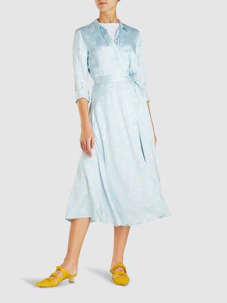 Stine Goya - Baily Floral-Print Satin Wrap Dress