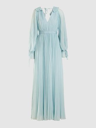 Self-portrait - Pleated Chiffon Maxi Dress