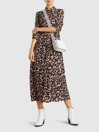 Baum und Pferdgarten - Alham Leopard-Print Crepe Midi Dress
