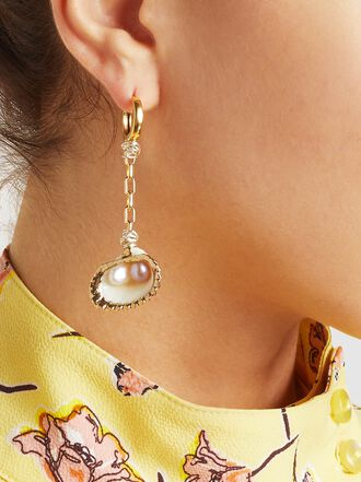 WALD Berlin - Single Gold-Plated Shell Earring