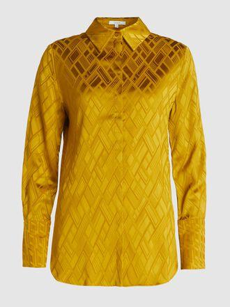 LAYEUR - Geometric Collared Crepe Shirt