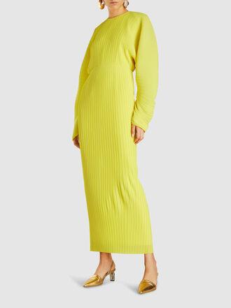 Solace London - Mirabelle Plissé Chiffon Maxi Dress