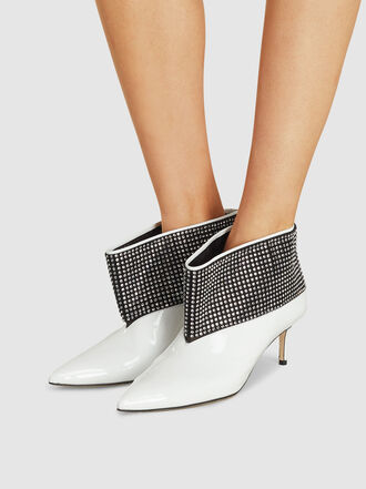 Christopher Kane - Crystal Cuff Leather Ankle Boots