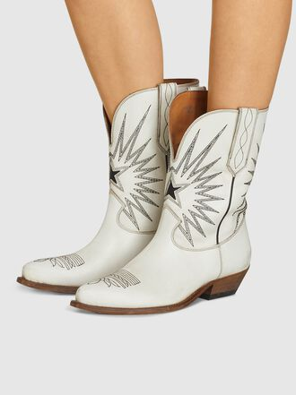 Golden Goose Deluxe Brand - Wish Star Embroidered Leather Cowboy Boots