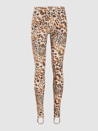 NANUSHKA - Skylar Leopard Print Woven Leggings