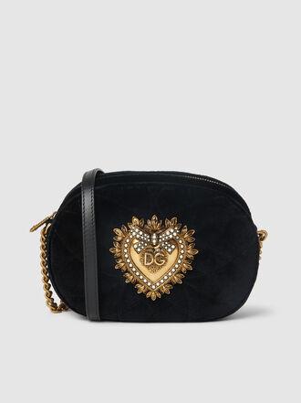 Dolce & Gabbana - Devotion Embellished Velvet Camera Bag