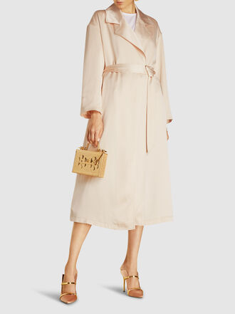 LAYEUR - Leigh Belted Satin Trench Coat