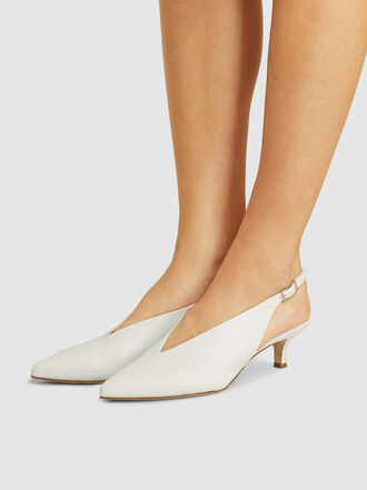 Tibi - Lia Pointed Leather Pumps