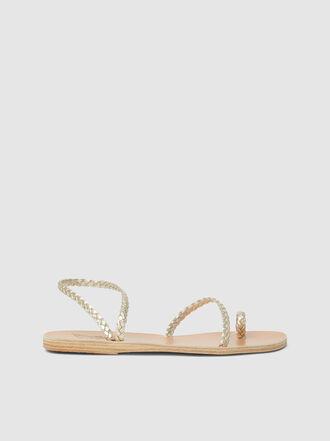 Ancient Greek Sandals - Eleftheria Braided Leather Sandals
