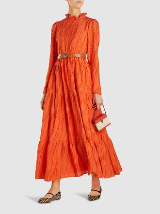Stine Goya - Judy Ruffled High-Neck Silk-Blend Maxi Dress