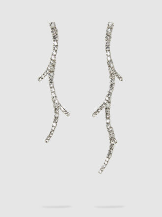 RYAN STORER - Mismatched Silver-Tone Crystal Earrings