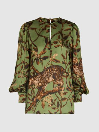 Johanna Ortiz - Jungle Print Balloon Sleeve Top