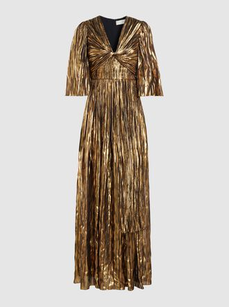 Peter Pilotto - Striped Lurex Chiffon Gown