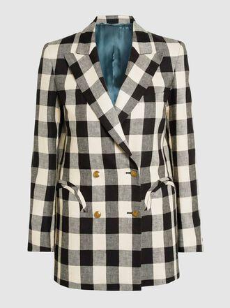 Blazé Milano - Pequod Everyday Checkered Linen Blazer