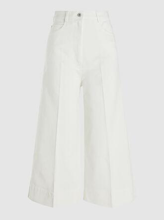 Cédric Charlier - Wide-Leg Denim Culotte Trousers