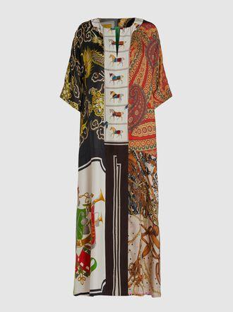 RIANNA + NINA - Patchwork Vintage Silk Kaftan