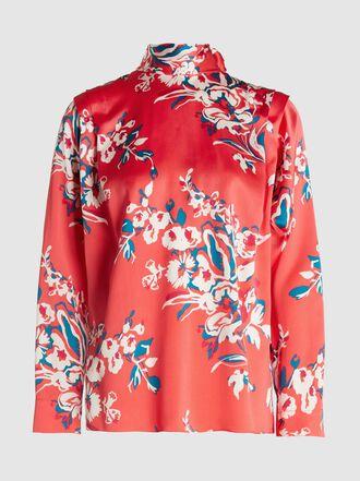 Roksanda - Aulna Floral Print Silk Blouse