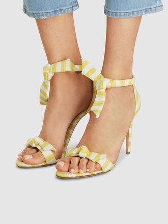 ALEXANDRE BIRMAN - Clarita Striped Heeled Leather Sandals