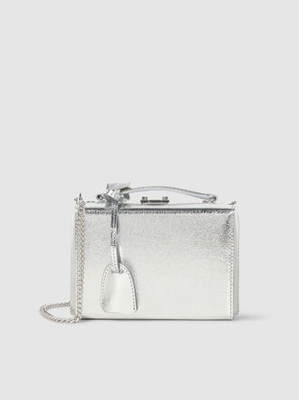 MARK CROSS - Grace Crackle Metallic Leather Mini Box Bag