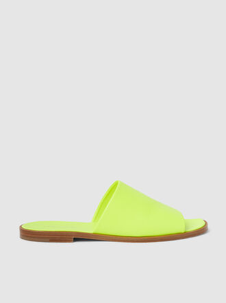 A Plan Application - Flat Neon Leather Sandals
