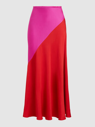 LAYEUR - Block-Colour Maxi Skirt