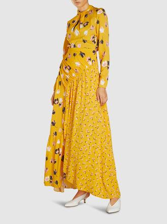 Self-portrait - Floral Print Crepe de Chine Maxi Dress