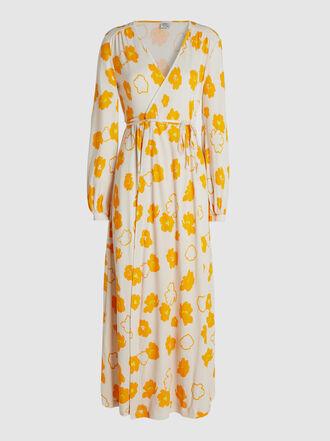 Baum und Pferdgarten - Jonna Floral-Print Cotton-Blend Wrap Midi Dress