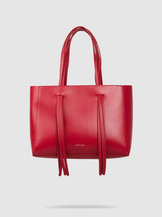 Mansur Gavriel - Fringe Handle Leather Tote Bag