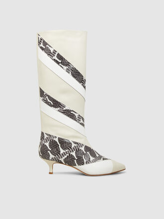Tibi - Hart Snake Print Calf Leather Boots