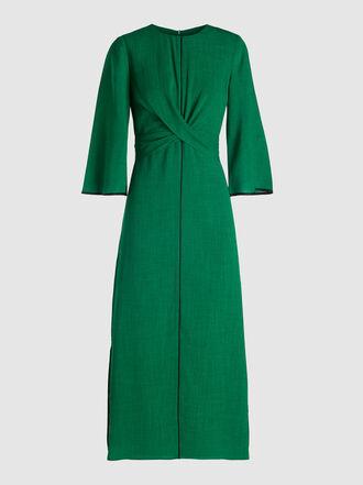 CEFINN - Twist-Front Voile Midi Dress